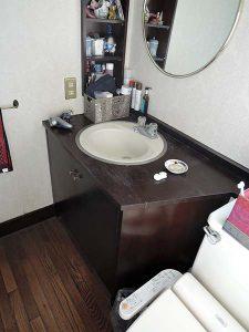 洗面カウンター、復活。